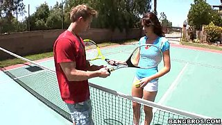 Katie Angel Trades Tennis Lessons For a Blowjob