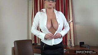 very busty secretary ewa