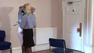 Sarah bright punished by policewoman