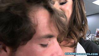Ariella Ferrera and Jynx Maze punish him