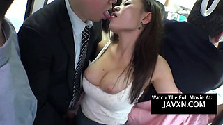 Asian Teen Gets Fucked On The Bus.