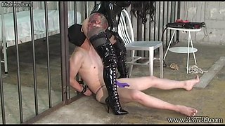 CBT Boots and Dick Slapping Domina