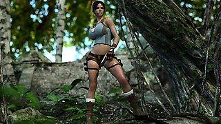 3D Lara Croft Jizzed by an Ogre -