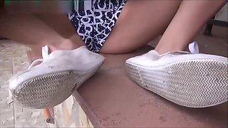 Abused Dirty Plimsole Pumps POV Worship