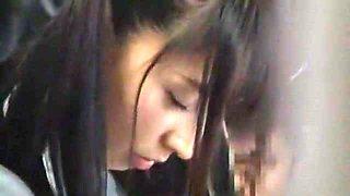Best Japanese girl Kami Kimura, Yuki Itano, Yuri Hasegawa in Hottest Bus, Public JAV scene