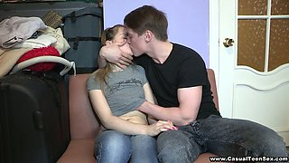 Teen Couple, Guy Seducing Blonde Babe