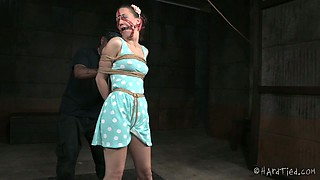 Cute college gal is punished in the dungeon