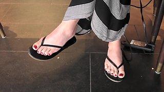 Horny homemade Foot Fetish, Redhead adult clip