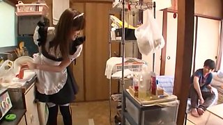 Best Japanese girl Chika Eiro in Exotic Maid, Handjob JAV video