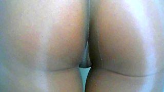 crossdresser pantyhose and brown panties 010