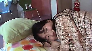 Asian japanese schoolgirl plays with anal toys