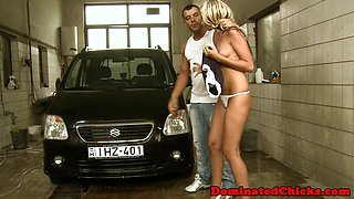 Anally dominated slave banged by rough dom