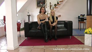 Hungarian blondie Candy Licious is invited by lewd wife for MFF threesome