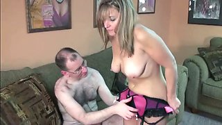 Blonde asstastic mature chick rides for a cocky train