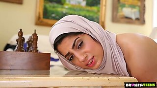 Alluring big bottomed babe in hijab Nadia Ali goes wild on a hard dick