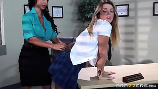 Slutty Busty teacher seduces young schoolmiss Jenna Ashley