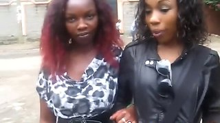 african cutie gets pleased by neighbor