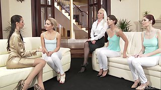 Kate Gold and Victoria Puppy have a blast during a kinky lesbian orgy
