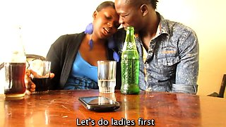 Real African amateur couple go on a date