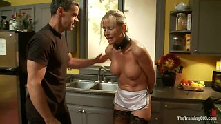 House Maid Spanked And Humiliated In The Kitchen