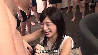 Subtitled CFNM Japanese gokkun party with Miki Sunohara