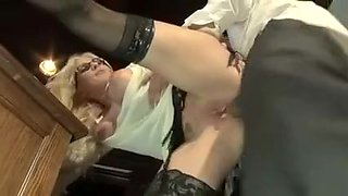 Horny homemade Blonde, Ass porn scene