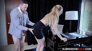 Boss Nails Submissive Secretary Alexa Grace