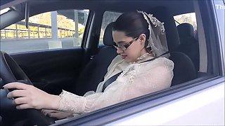 Modest Bride Masturbates in Public Parking Lot