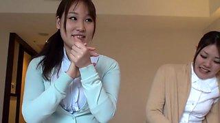 Horny Japanese model in Amazing Blowjob, Amateur JAV video