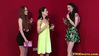 mean cfnm teens sucking dick of a lucky dude