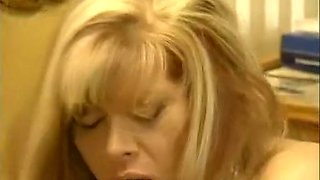 Blonde hot milf babe passionately rides her young lover