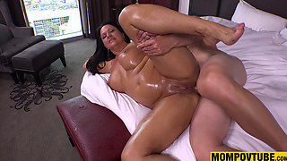 Anal Fucking and Pussy Creampie GILF POV HD Big Boobs