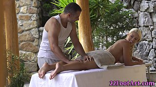 Babes feet get massaged