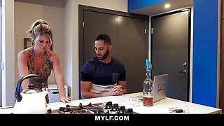 MYLF - Hot Blonde Milf Gets Fucked Hard By Sexy Stepson