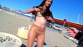 Hardcore doggy style anal fuck with chubby Sonia Sex on the beach