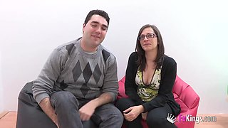 I sell my girlfriend to Jordi! Their first cuckold scene