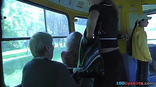 One of the cooles upskirts on bus