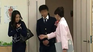 Amazing Japanese chick Yuna Shiina, Hitomi Honjou in Hottest Handjobs, Secretary JAV movie