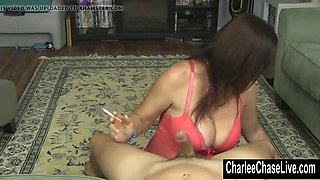 smoking hot milf charlee chase jerks a hard cock!