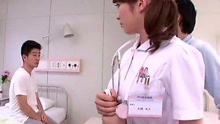 Incredible Japanese chick Miku Ohashi in Amazing Facial, Nurse JAV video