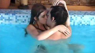 cute teen fuck in pool