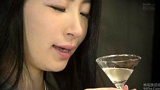 Japanese slut fucked at the bar