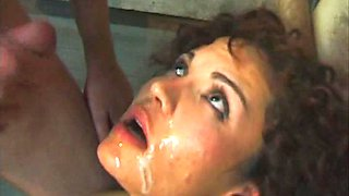 Busty Latina Dominatrix Aurora Gets Gangbanged and Receives a Bukkake Facial