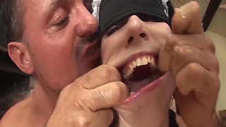skinny babe extreme rough anal fisted