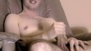 straight guy chris solo shows her skills in her room