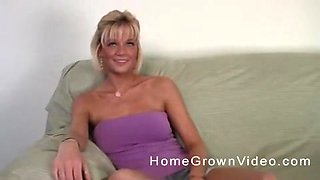 Huge-titted blondie Daisy on top of her sexy hard fuck buddy