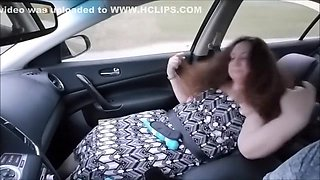 Naughty Wife's First Dogging - First Time Touched By Stranger In Car