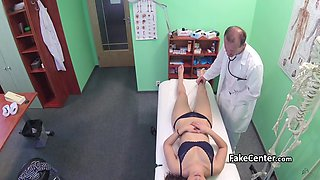 Doctor cummed on hairy pussy hole