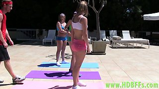 Real yoga teens sucking