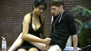 Busty Milf Milks Young Man